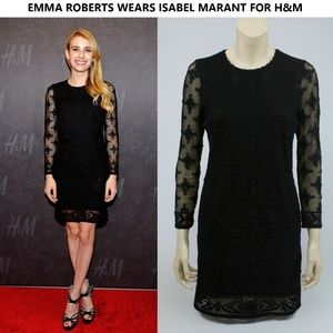 Isabel Marant for H&M Little Black Dress Lace Sz 4